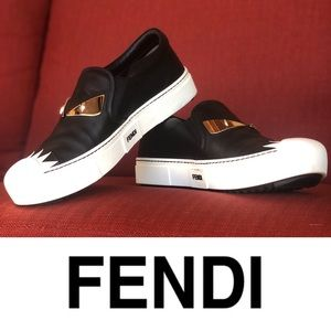 FENDI Signature Monster Slip-On Sneaker